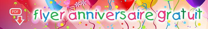 Flyer anniversaire gratuit