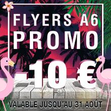 Promotion - 10 € - Flyer A6 R/V
